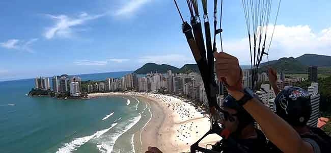Voo Duplo de Parapente no Guaruja - SP